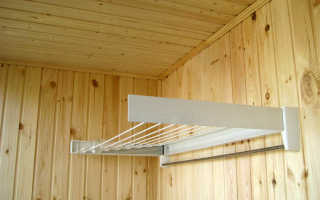 Установка на балконе к пластиковой вагонке сушилки для белья; FAMILIA